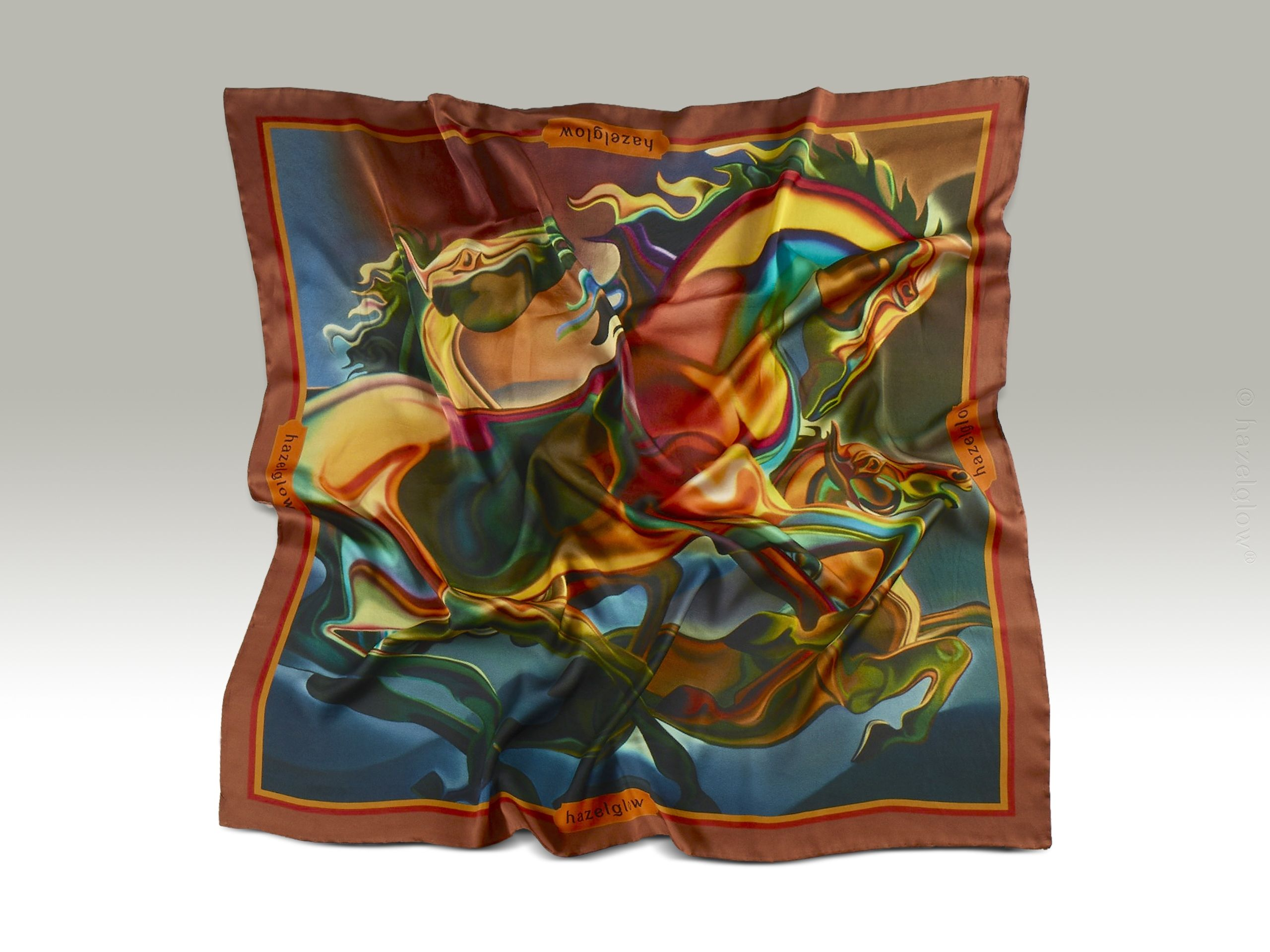 Fashion Silk Scarf <br>5 | Luxury Designer Silk Scarves for Women's by Hazelglow Store