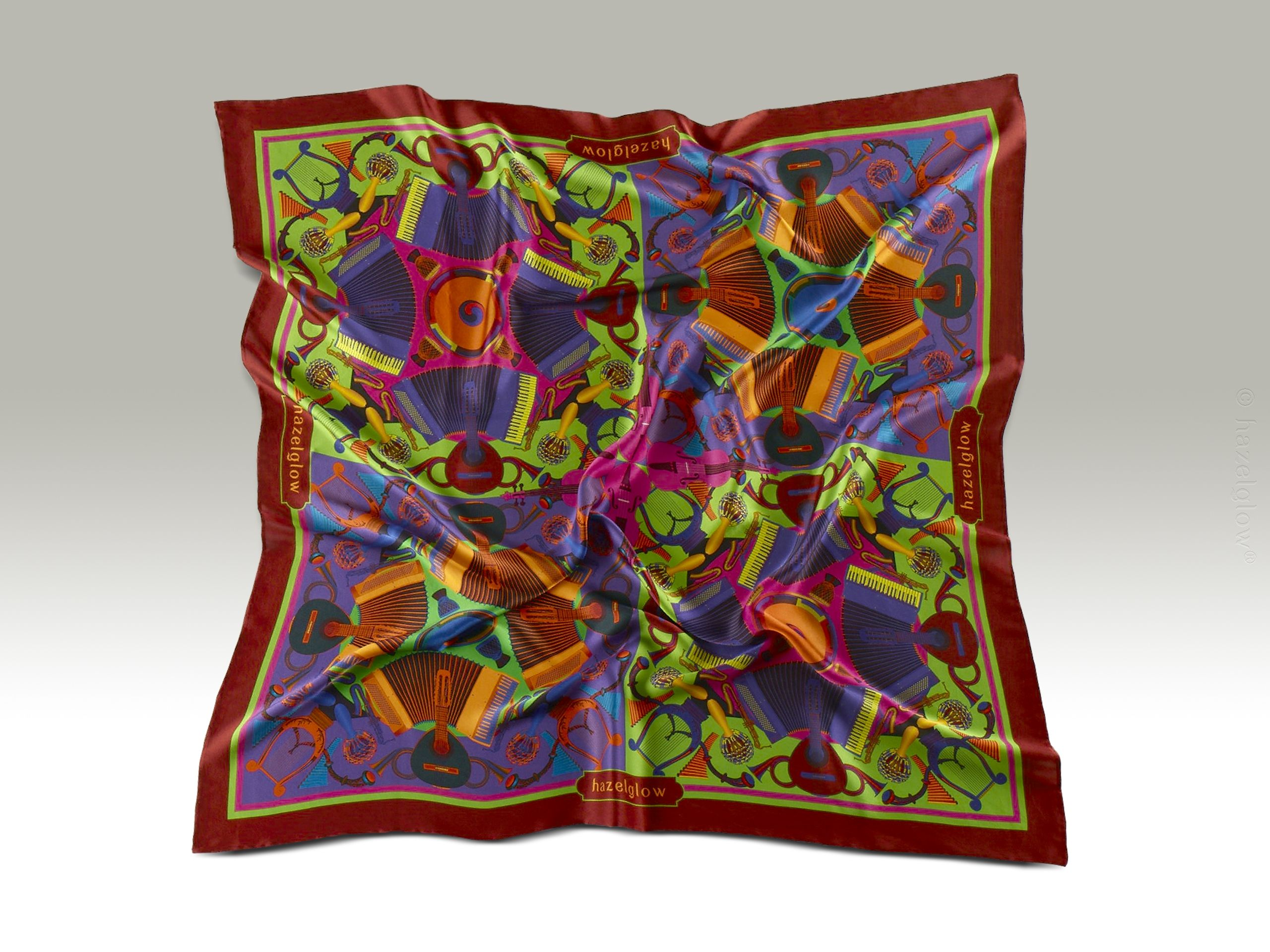 Fashion Silk Scarf <br>7 | Luxury Designer Silk Scarves for Women's by Hazelglow Store