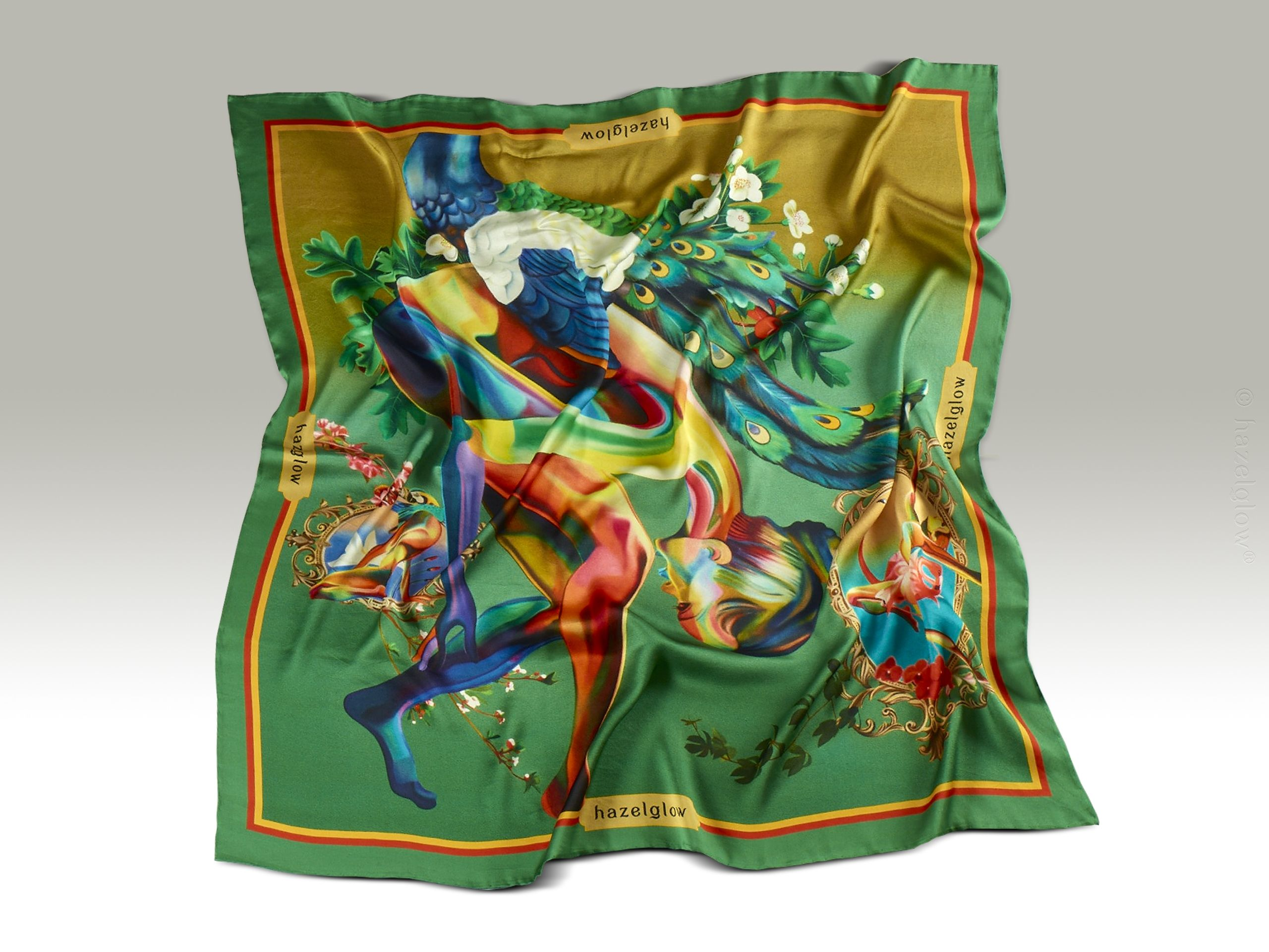 Fashion Silk Scarf <br>8 | Luxury Designer Silk Scarves for Women's by Hazelglow Store