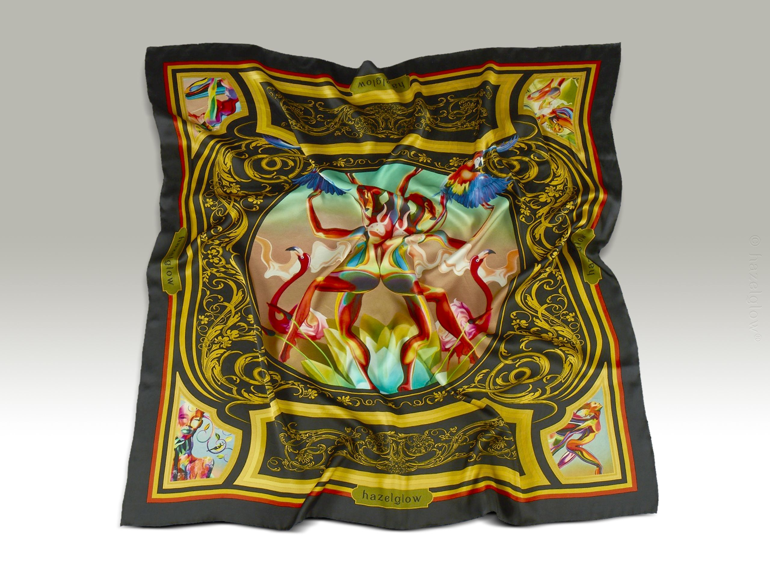 Fashion, Silk Scarf 12,