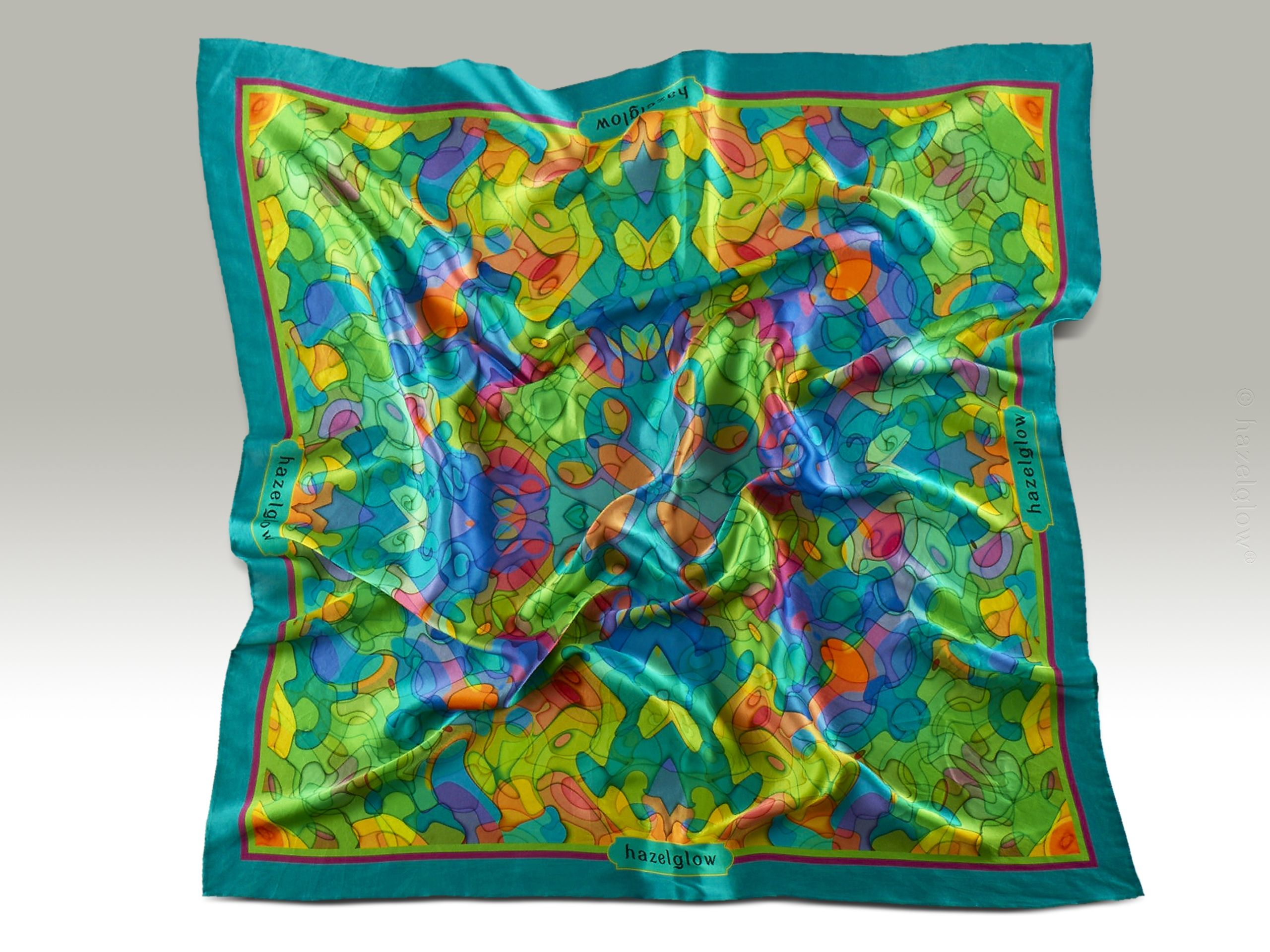 Fashion, Silk Scarf 17,