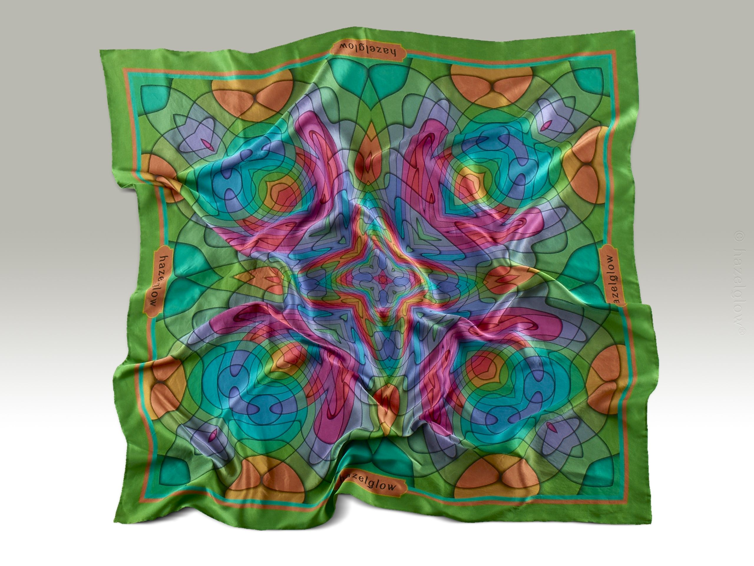 Fashion, Silk Scarf 21,