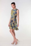 Fashion Foliage Yellow <br>| Luxury Designer Dress for Women's by Hazelglow Store